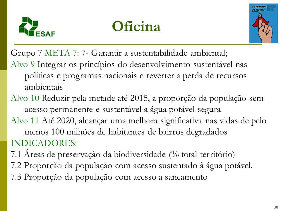 Oficina Grupo 7 META 7: 7- Garantir a sustentabilidade ambiental;