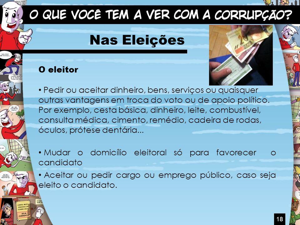 Nas Eleições O eleitor.