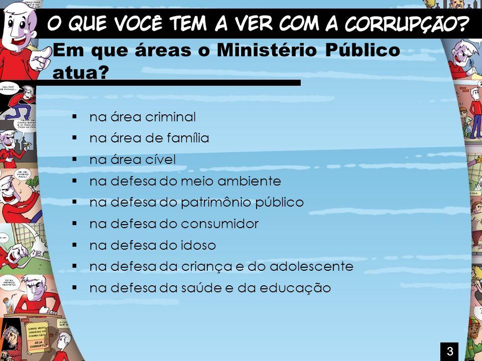 Em que áreas o Ministério Público atua