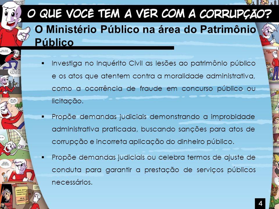 O Ministério Público na área do Patrimônio Público
