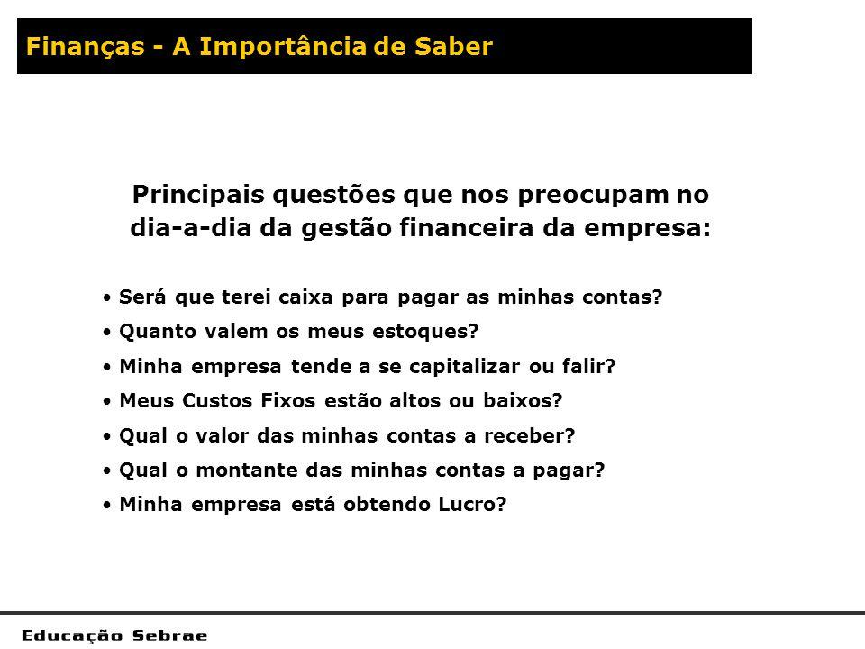 Finanças - A Importância de Saber