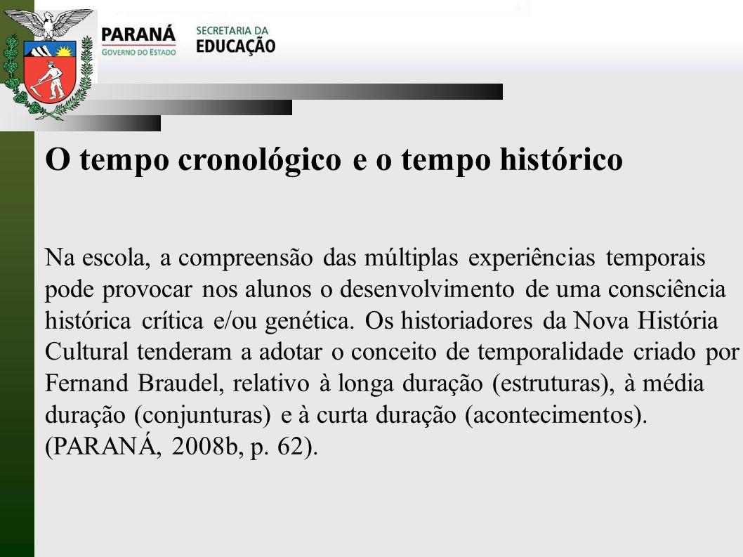 O tempo cronológico e o tempo histórico