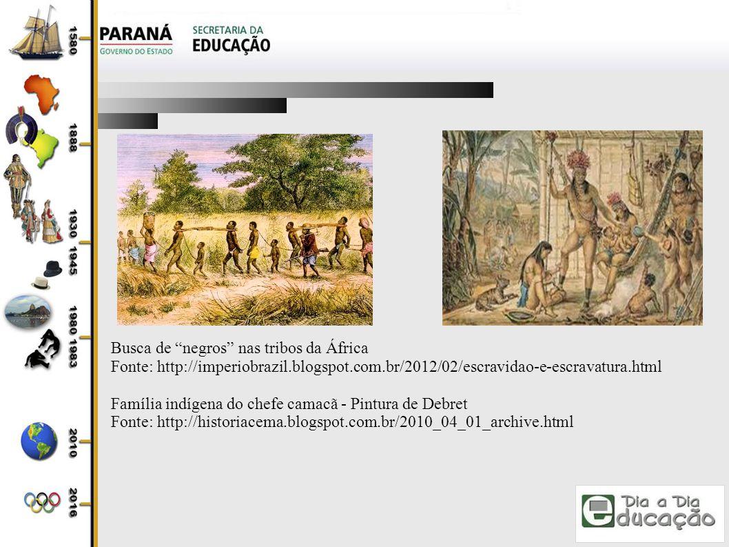 Busca de negros nas tribos da África