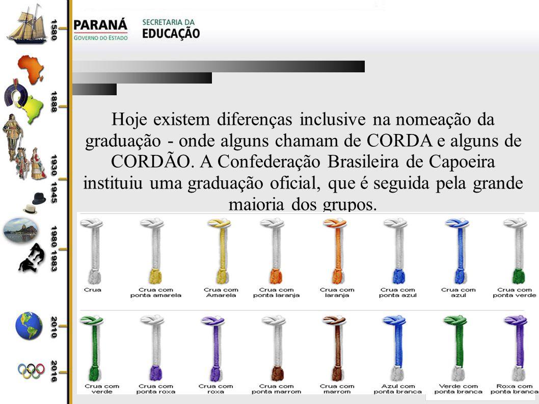 Hoje existem diferenças inclusive na nomeação da graduação - onde alguns chamam de CORDA e alguns de CORDÃO.