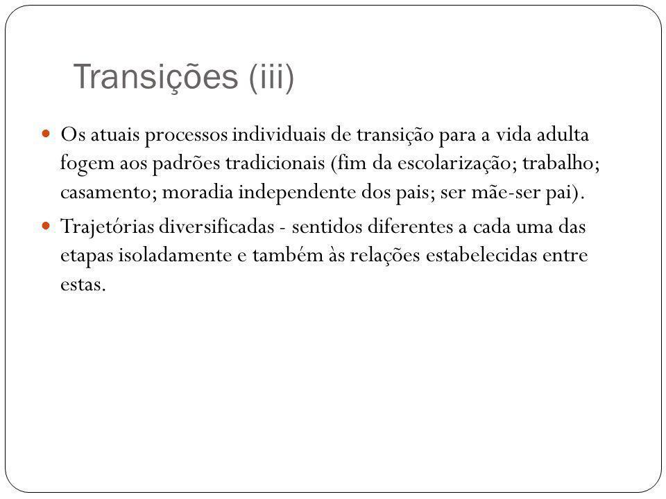 Transições (iii)