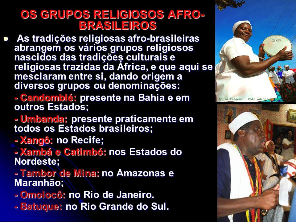 OS GRUPOS RELIGIOSOS AFRO-BRASILEIROS