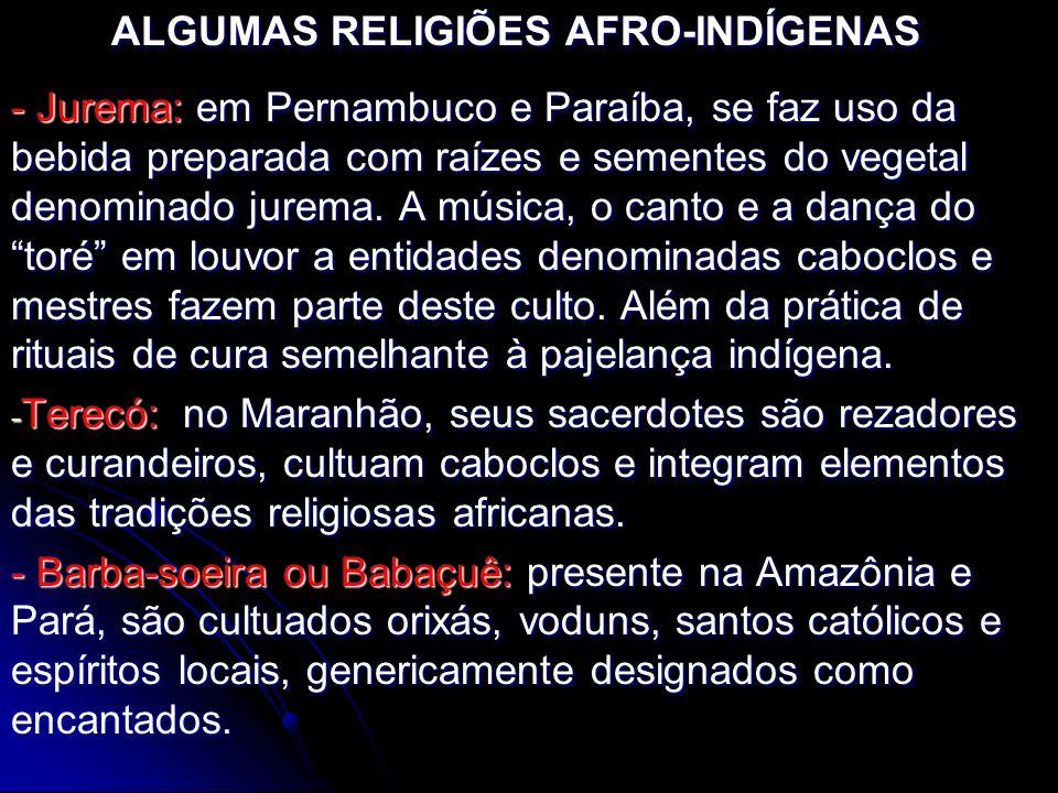 ALGUMAS RELIGIÕES AFRO-INDÍGENAS