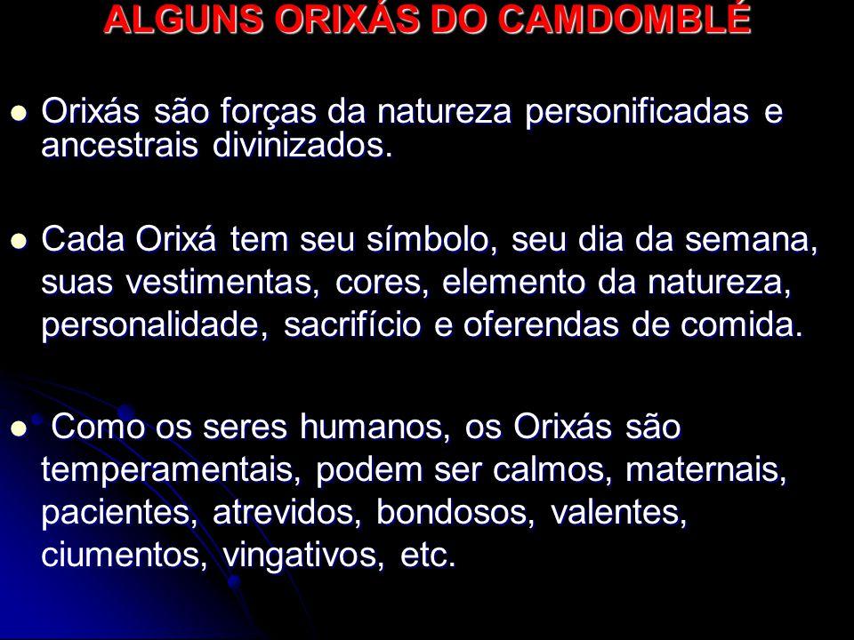 ALGUNS ORIXÁS DO CAMDOMBLÉ