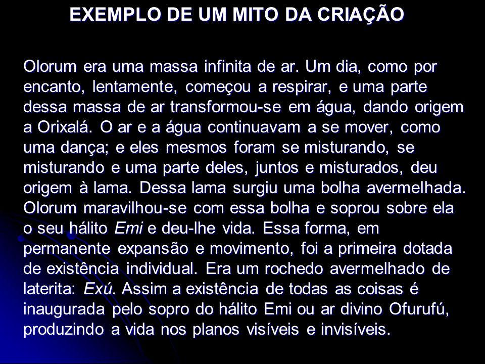 EXEMPLO DE UM MITO DA CRIAÇÃO