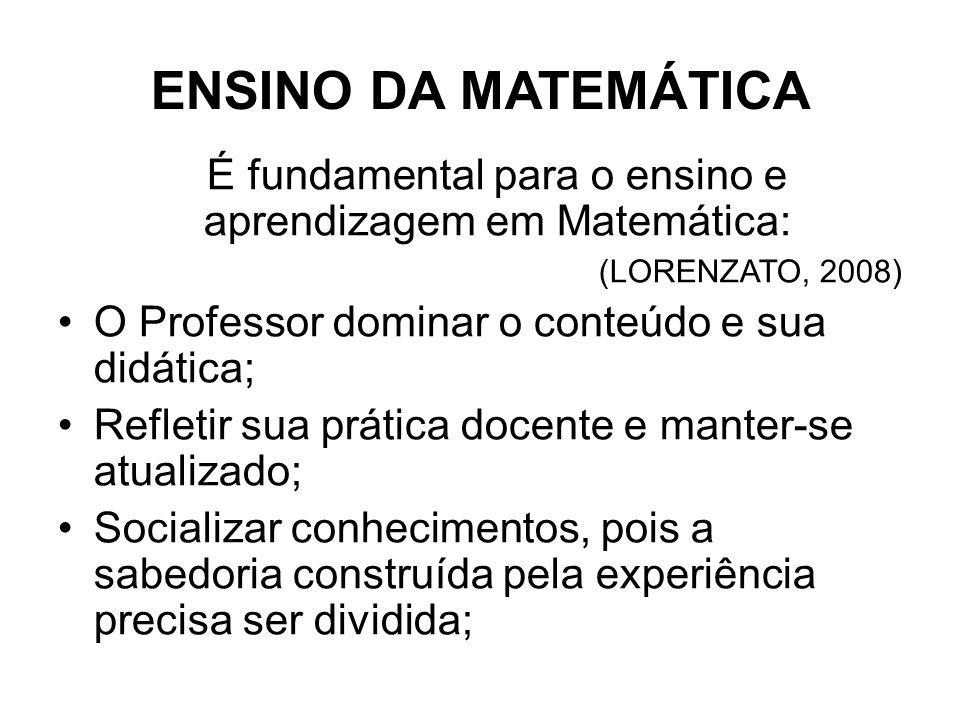 É fundamental para o ensino e aprendizagem em Matemática: