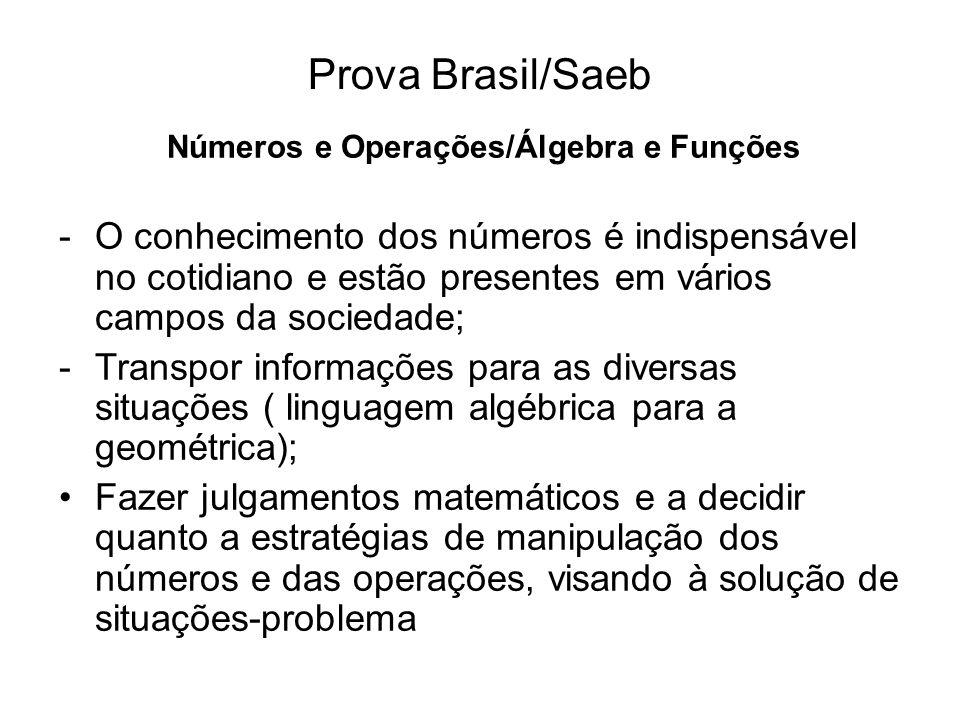Números e Operações/Álgebra e Funções