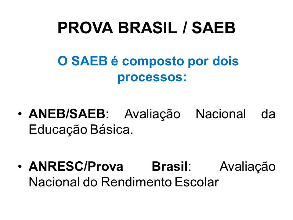 O SAEB é composto por dois processos: