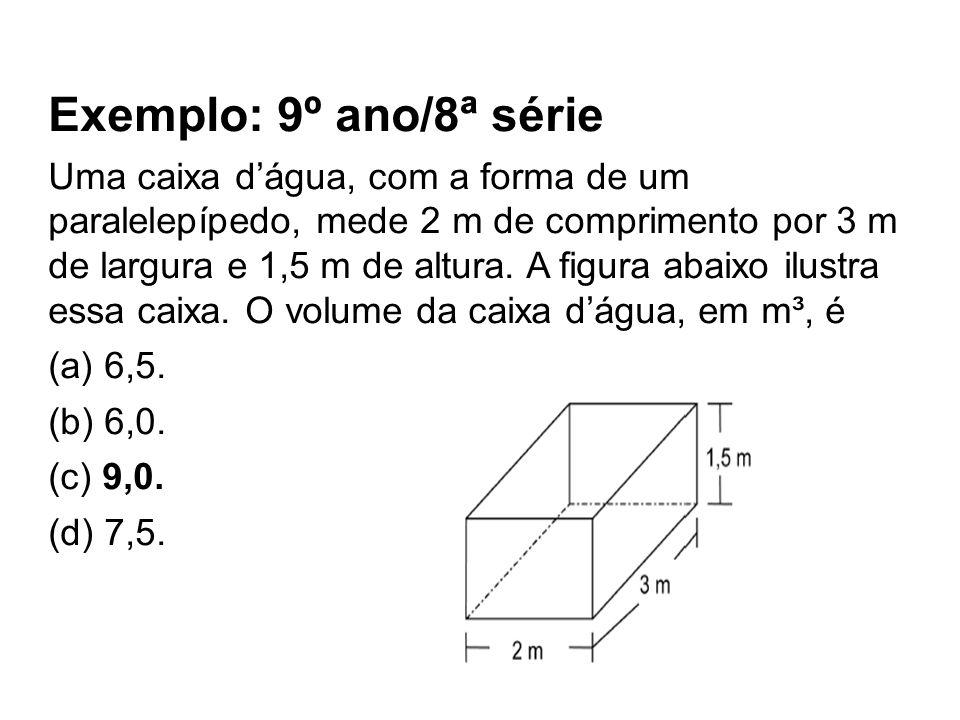Exemplo: 9º ano/8ª série