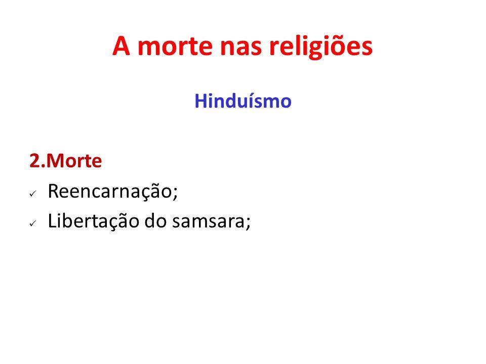 A morte nas religiões Hinduísmo 2.Morte Reencarnação;