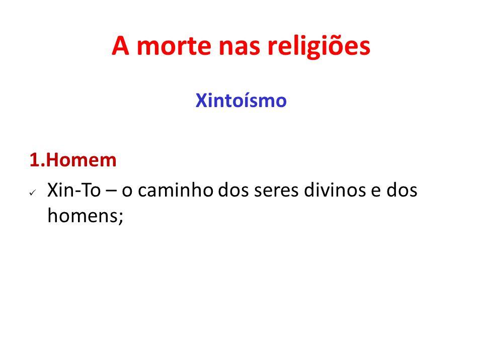 A morte nas religiões Xintoísmo 1.Homem