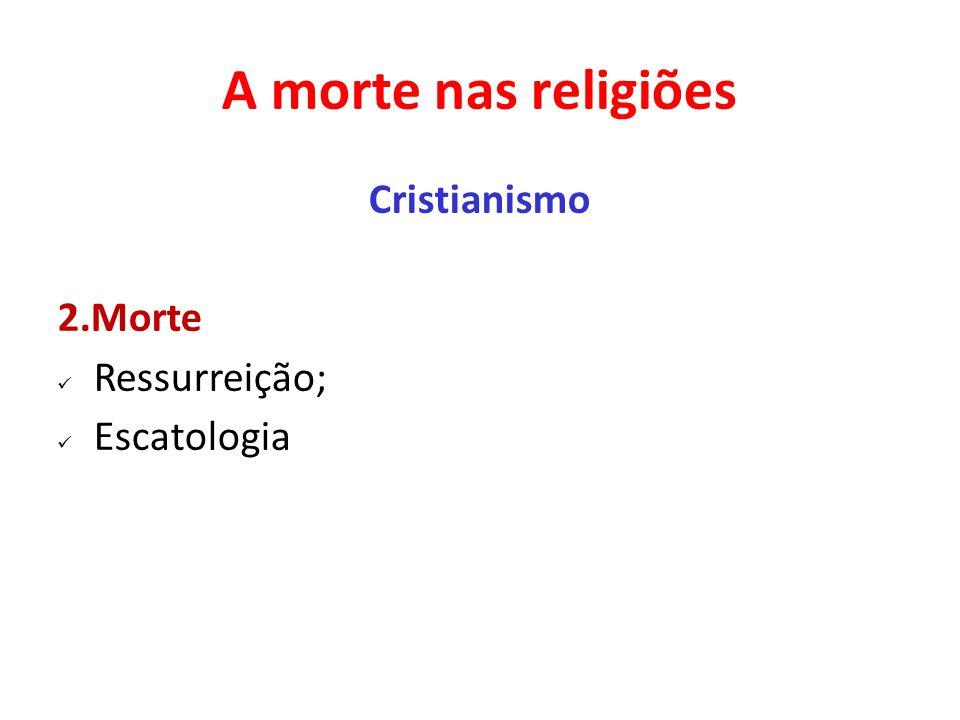 A morte nas religiões Cristianismo 2.Morte Ressurreição; Escatologia