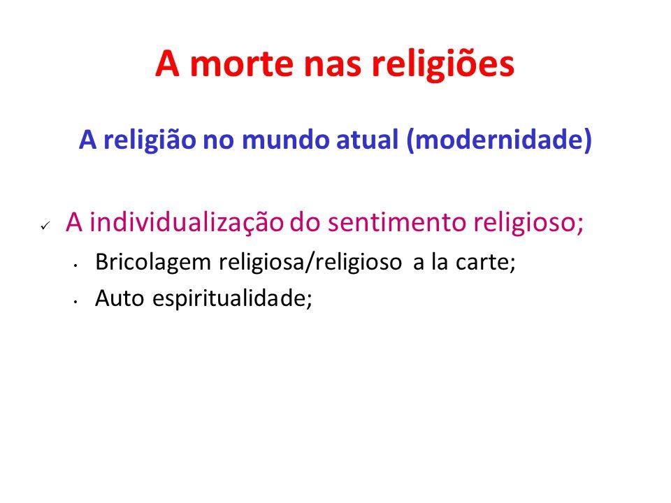A religião no mundo atual (modernidade)