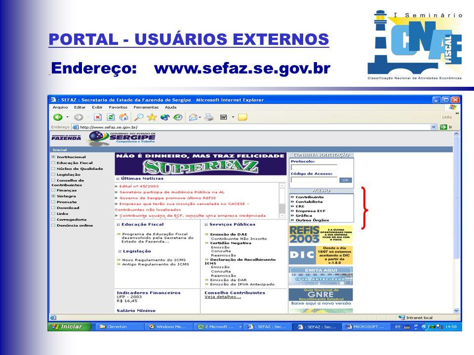 USO DE UMA TABELA DE PRODUTOS ASSOCIADOS À CNAE-Fiscal;