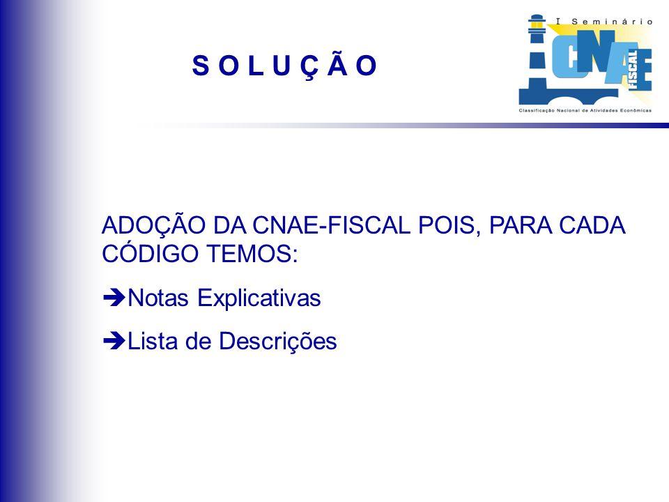 SITUAÇÃO ANTERIOR TABELA ANTERIOR (CAE):