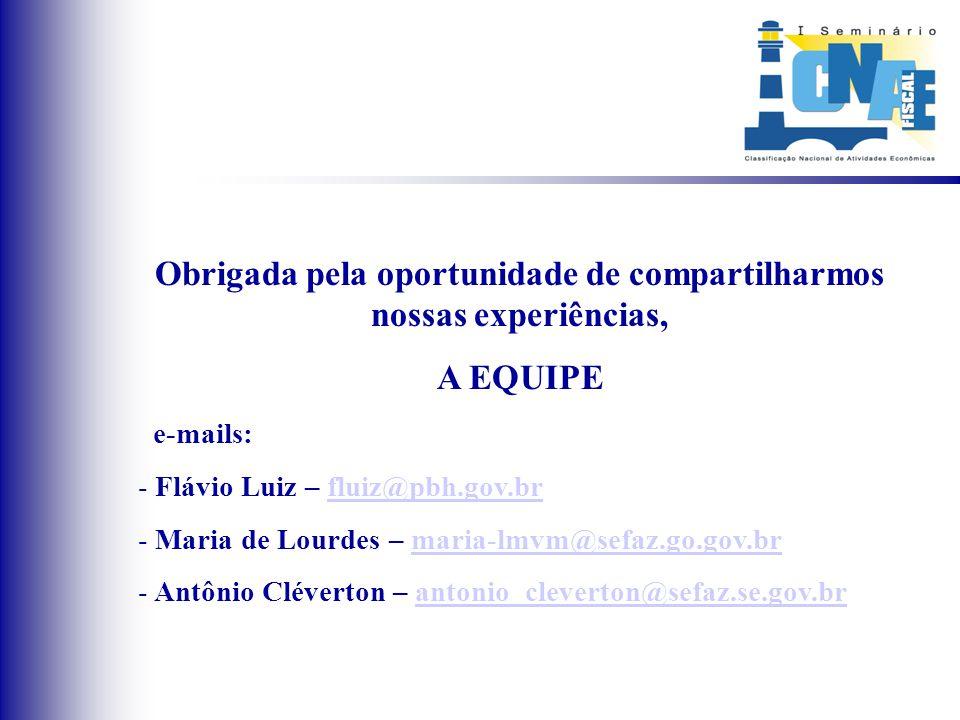 BANCO DE DADOS ATUALIZADO E CONSISTENTE SUGESTÕES DE NOVAS DESCRIÇÕES cnae@ibge.gov.br