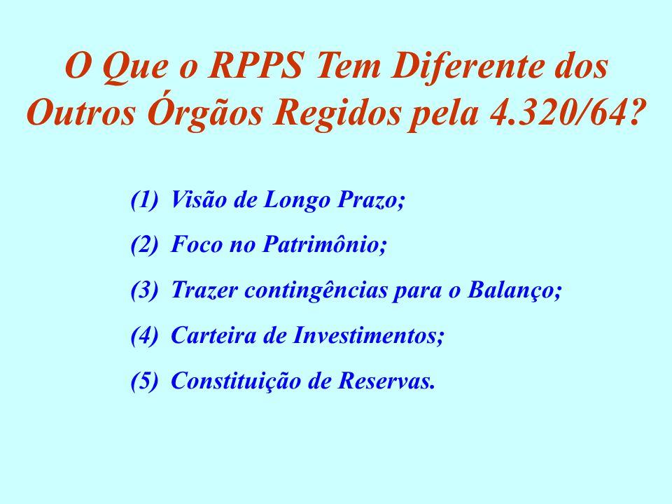 O Que o RPPS Tem Diferente dos Outros Órgãos Regidos pela 4.320/64