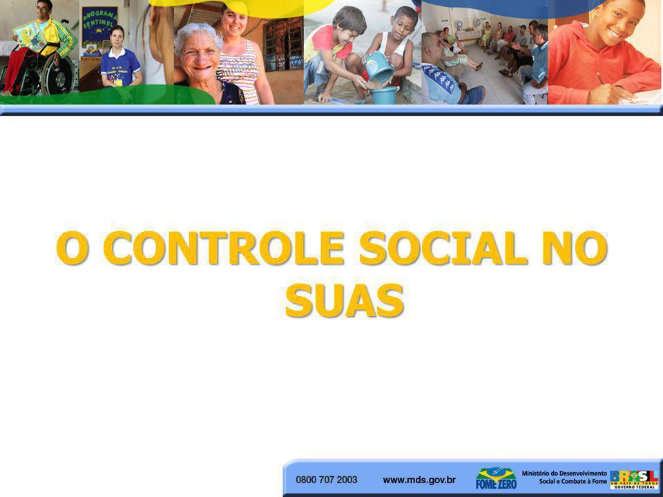 O CONTROLE SOCIAL NO SUAS