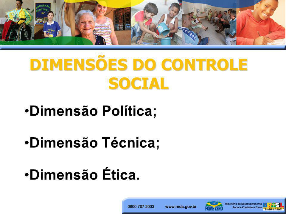 DIMENSÕES DO CONTROLE SOCIAL