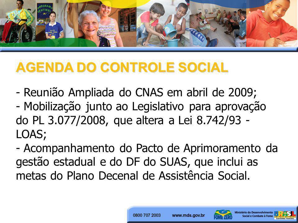 AGENDA DO CONTROLE SOCIAL