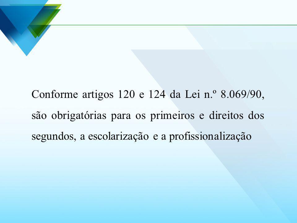 Conforme artigos 120 e 124 da Lei n. º 8