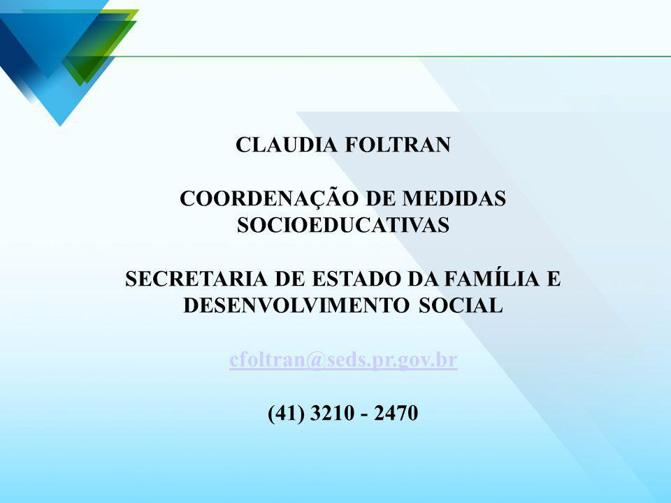 COORDENAÇÃO DE MEDIDAS SOCIOEDUCATIVAS