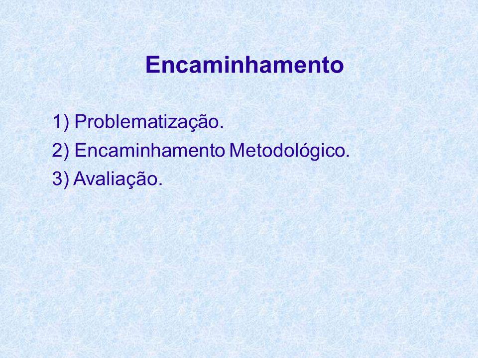 Encaminhamento 1) Problematização. 2) Encaminhamento Metodológico.