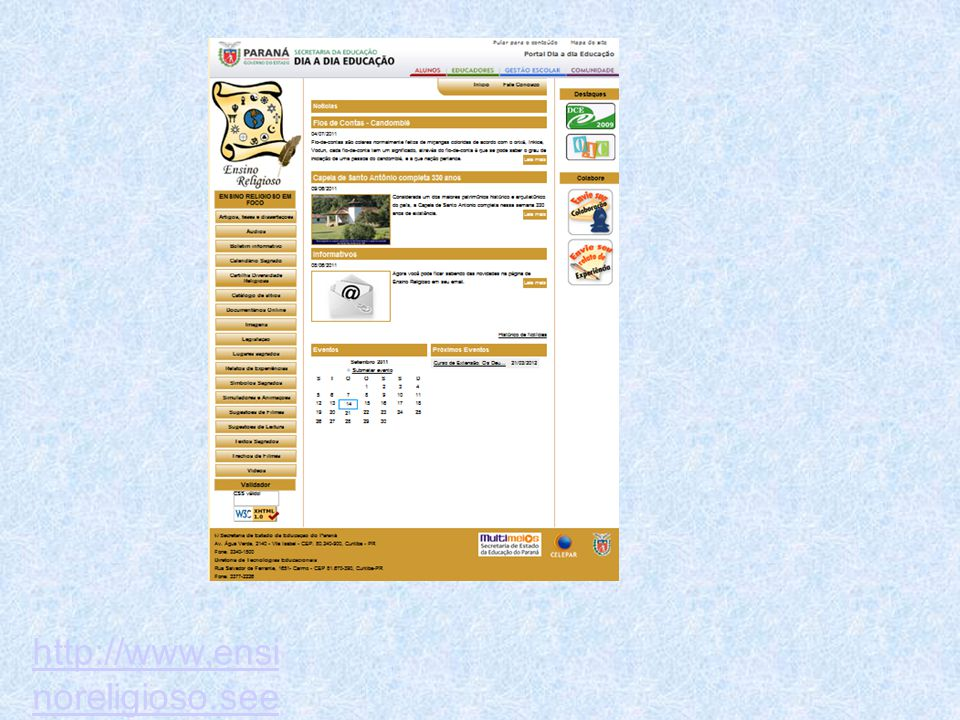 http://www.ensinoreligioso.seed.pr.gov.br/