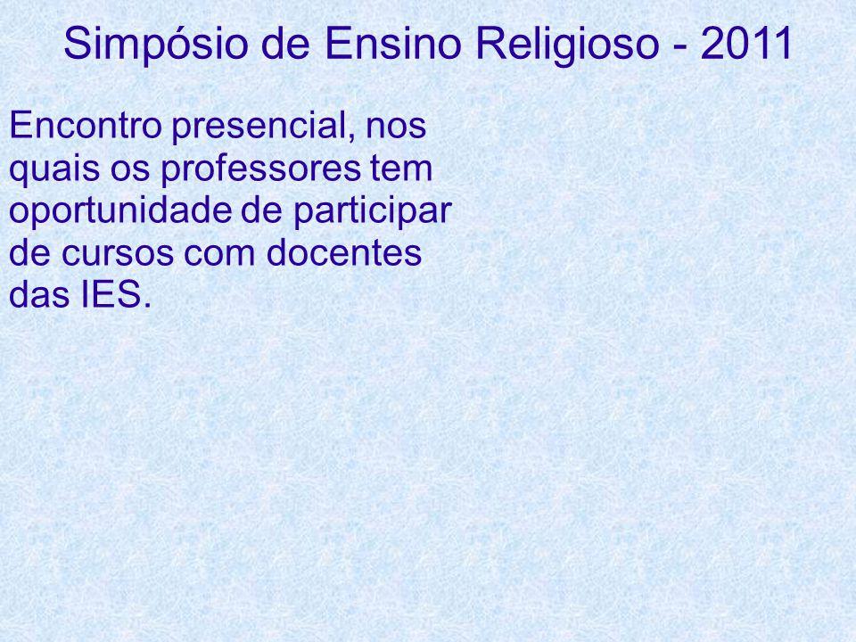 Simpósio de Ensino Religioso - 2011