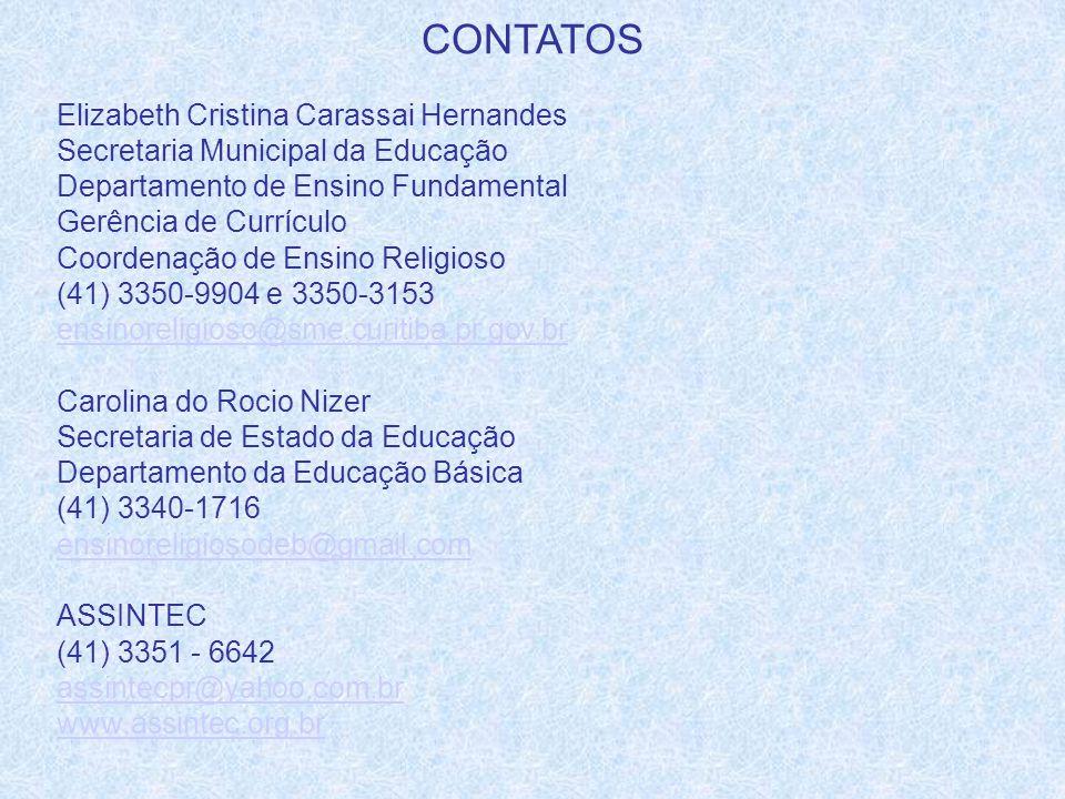 CONTATOS Elizabeth Cristina Carassai Hernandes