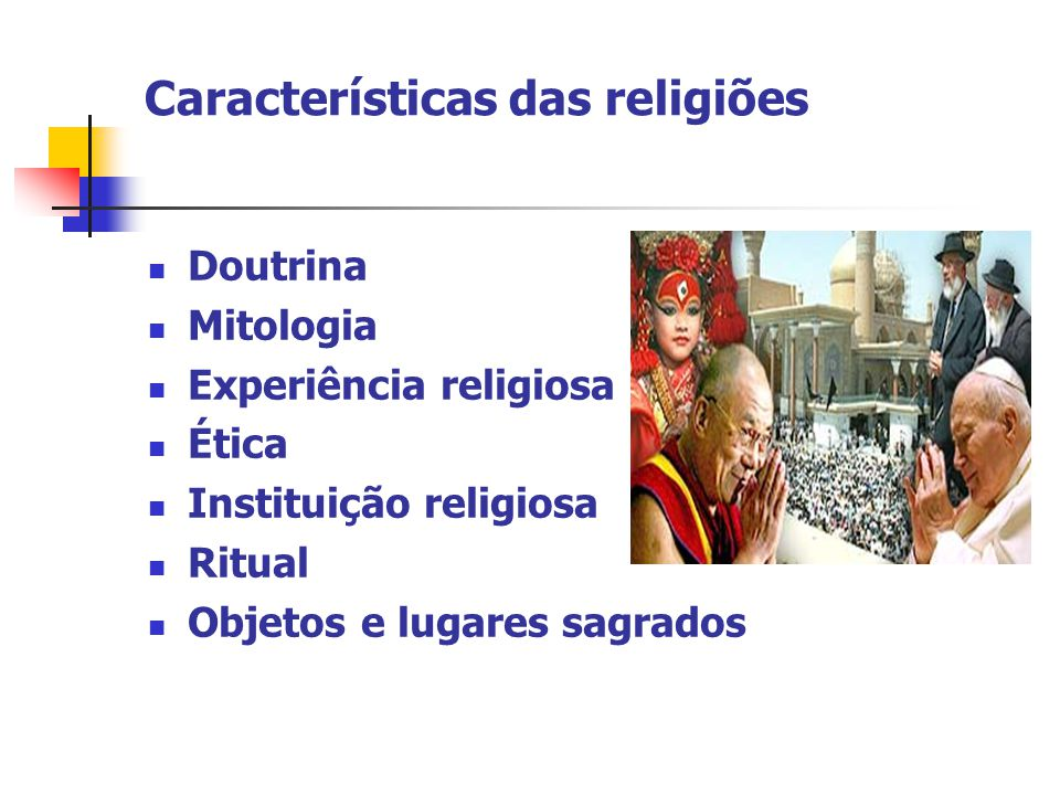Características das religiões
