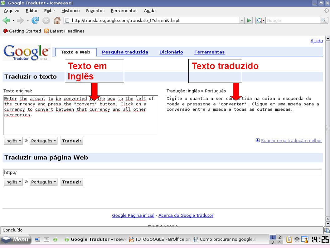 Texto em Inglês Texto traduzido