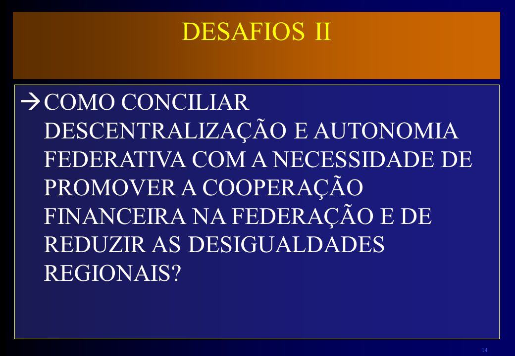 DESAFIOS II