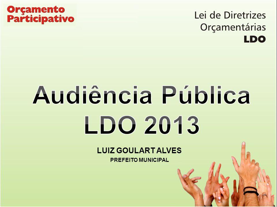 Audiência Pública LDO 2013 LUIZ GOULART ALVES PREFEITO MUNICIPAL