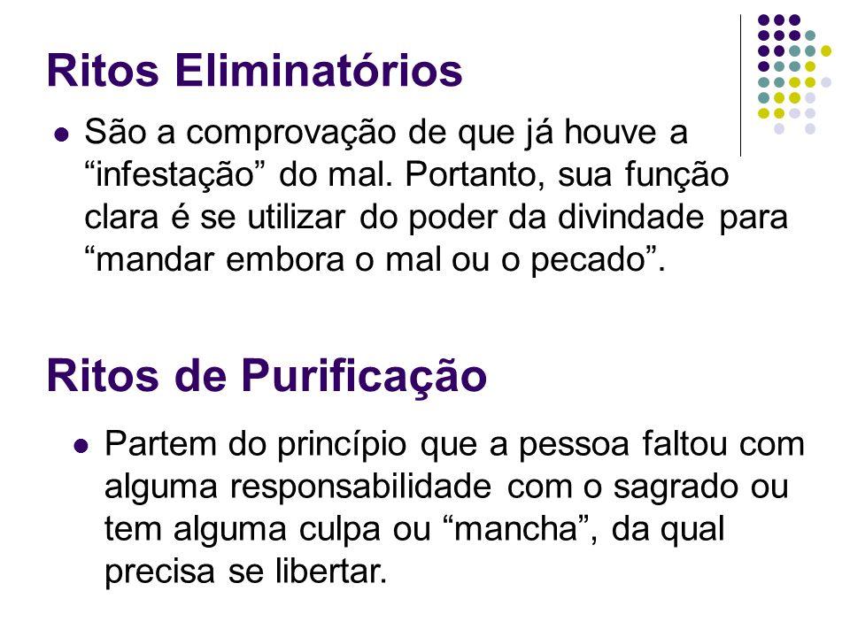 Ritos Eliminatórios Ritos de Purificação