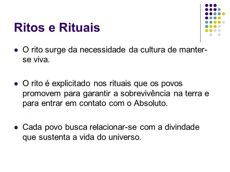 Ritos e Rituais O rito surge da necessidade da cultura de manter-se viva.