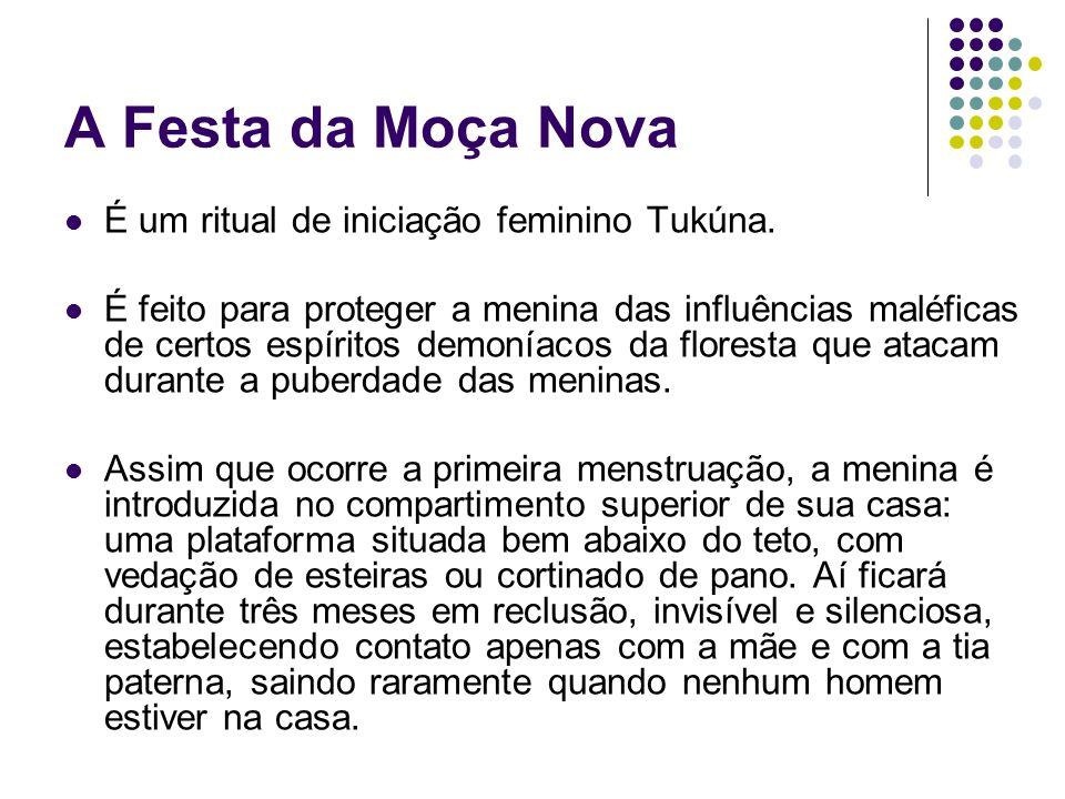 A Festa da Moça Nova É um ritual de iniciação feminino Tukúna.