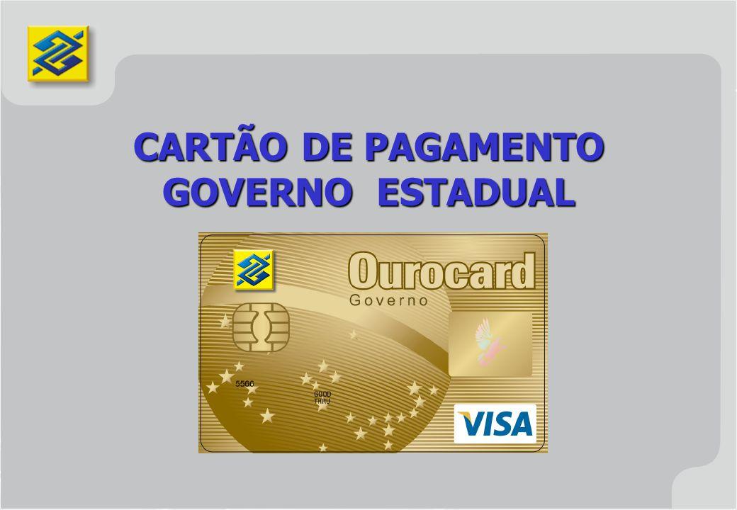 CARTÃO DE PAGAMENTO GOVERNO ESTADUAL