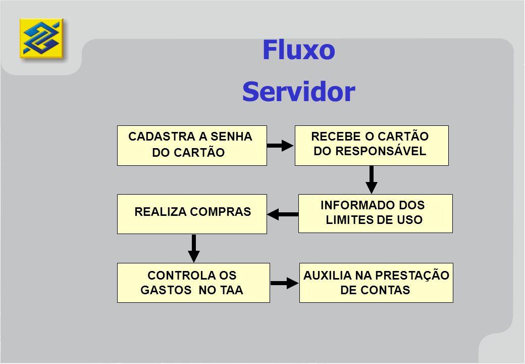 Fluxo Servidor REALIZA COMPRAS CONTROLA OS AUXILIA NA PRESTAÇÃO