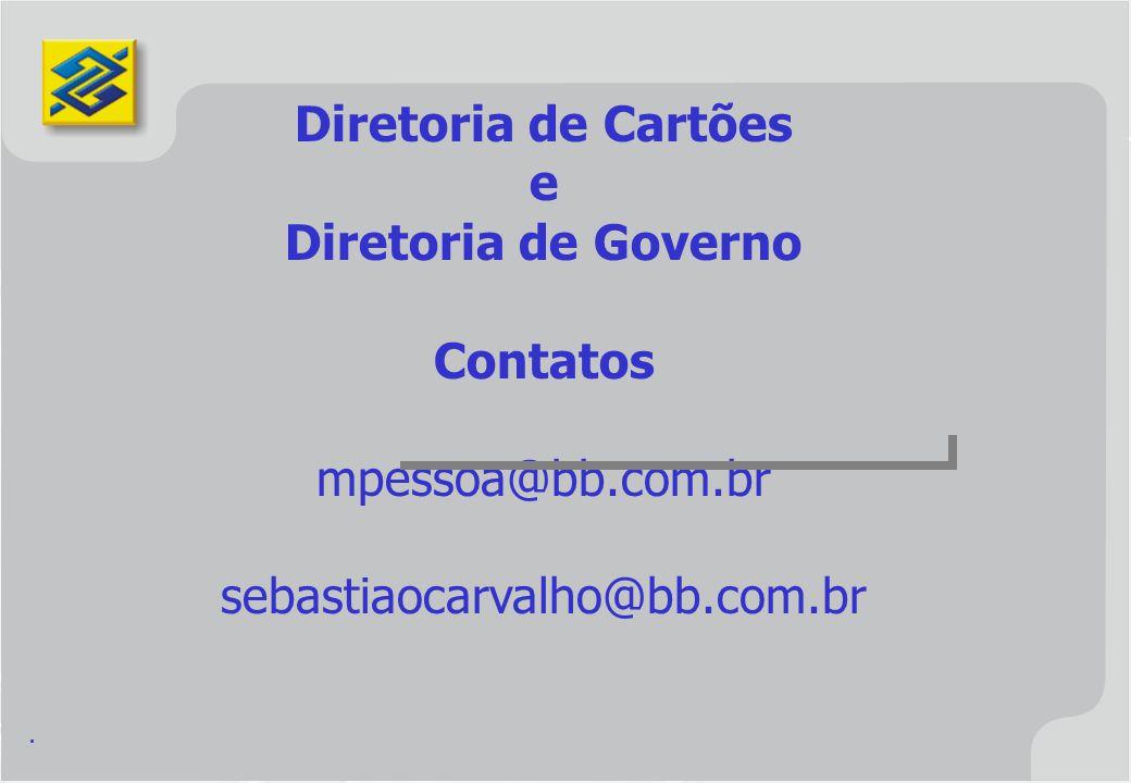 Diretoria de Cartões e Diretoria de Governo Contatos