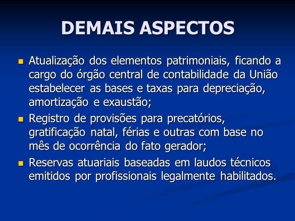 DEMAIS ASPECTOS