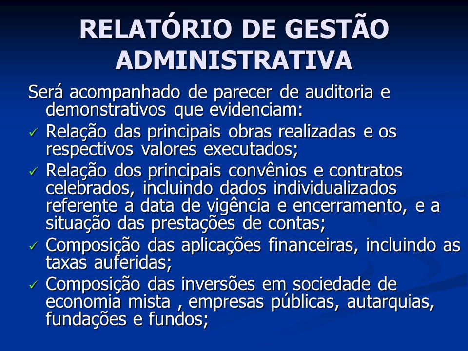 RELATÓRIO DE GESTÃO ADMINISTRATIVA