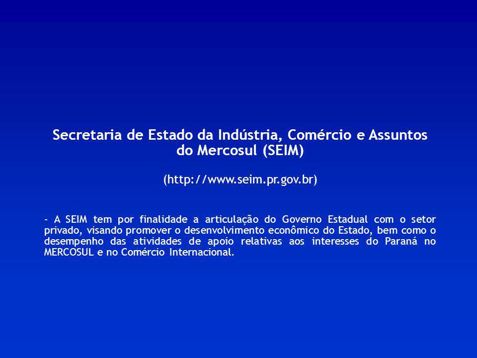 Secretaria de Estado da Indústria, Comércio e Assuntos do Mercosul (SEIM)
