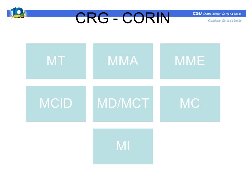 CRG - CORIN MT MMA MME MCID MD/MCT MC MI