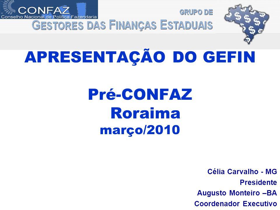 APRESENTAÇÃO DO GEFIN Pré-CONFAZ Roraima