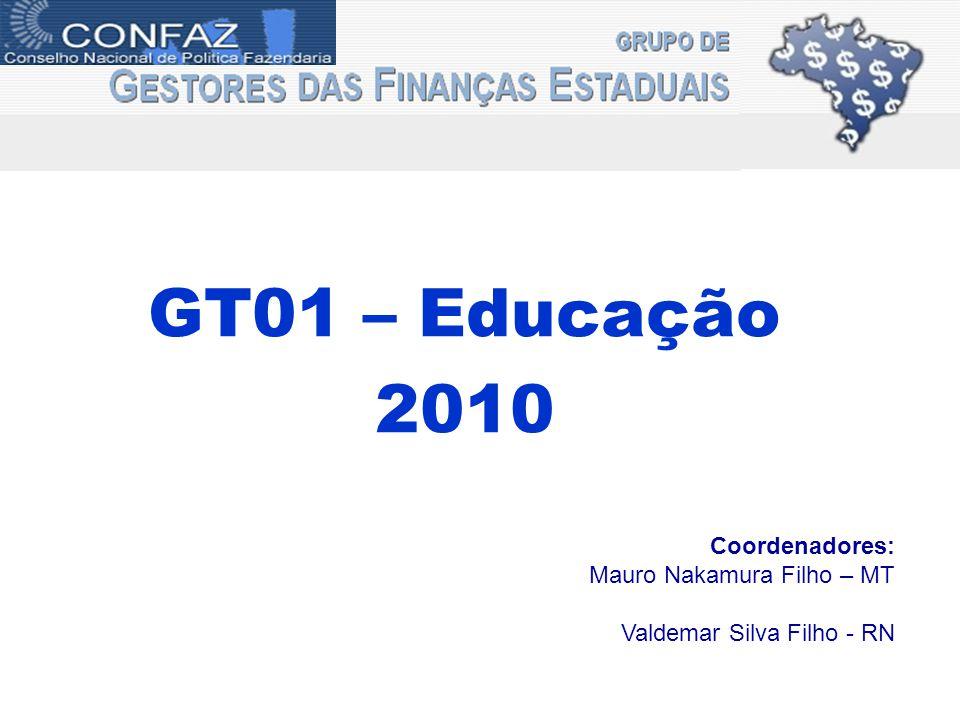 GT01 – Educação 2010 Coordenadores: Mauro Nakamura Filho – MT